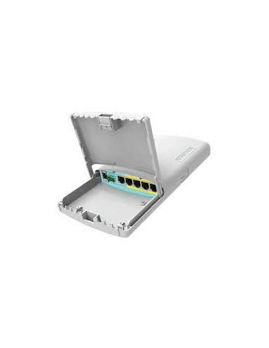 RB960PGS-PB - MikroTik PowerBox Pro 5-Port Weatherproof Gigabit Router (4-Port PoE) w/ SFP Port